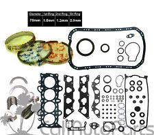 01-05 Honda Civic EX HX V-Tec1.7L D17A2 1.7 SOHC Gasket ENGINE RE-RING KIT