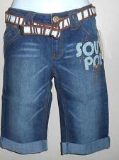 Southpole Junior Stretch Low Rise Embellished Denim Bermuda Shorts Seven (7) NWT