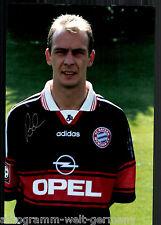 Mario Basler super grandi foto 20x30 cm il Bayern Monaco ORIG. Sign. +14