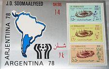 SOMALIA 1978 Block 6 S/S 458a Football Soccer World Cup Fußball WM Argentina MNH