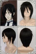 japan Kuroshitsuji Black Butler Sebastian Michaelis wig wigs +gift hairnet