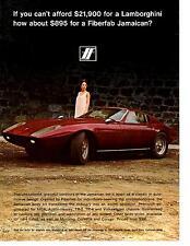 1968 FIBERFAB JAMAICAN KIT CAR  ~  NICE ORIGINAL AD