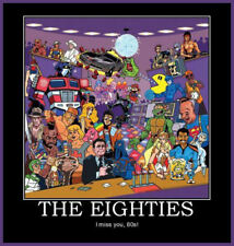 Men's Ladies T SHIRT cool retro 80s nostalgia I MISS YOU Mr T rocky goonies