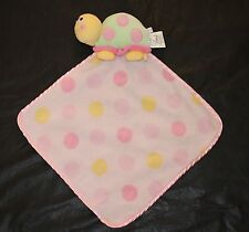 Blankets Beyond Pink Turtle Polka Dot Fleece Lovey Baby Toy Green Blanket Guc