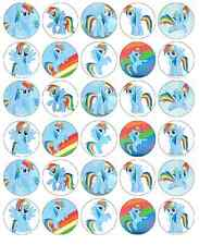 MY LITTLE PONY RAINBOW DASH Cupcake TOPPER COMMESTIBILI WAFER CARTA acquistare 2 ottenere 3rd libero
