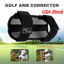 Golf Swing Trainer Elbow Brace Support Corrector Practice Training Aid Black US