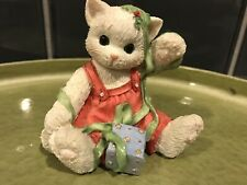 1996 Wrapped Up In You Calico Kittens Enesco No Box Christmas Holiday