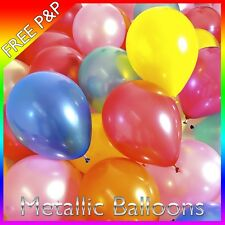 Mixed Colour Metallic Pearlised Balloons For Christening Wedding Birthday Party