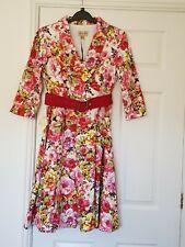 LINDY BOP  NWT Vivi Swing Dress - Pink Floral - UK 12