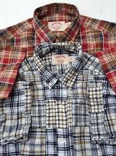 Brooks Brothers Lot of 2 x Slim Button Down Cotton Plaid Shirts S
