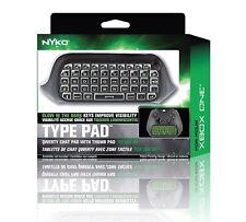 New Nyko Type Pad Microsoft Xbox One Full QWERTY keyboard w/Thumb Pad 86125-Z09