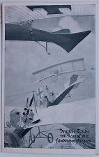 26984 AK 1. Weltkrieg Deutsche Taube im Kampf mit feindl. Fliegern Flugzeug 1915