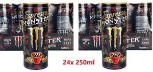 Monster Espresso & Milk Triple Shot Coffee Energy Drink 24x 250ml Best21STJULY21