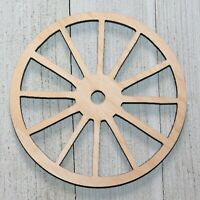 "Wagon Wheels Unfinished Wood Cutout 1/4"" Thick Crafts Door Hanger Wreath Sign"