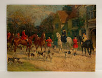 Antique Fox Hunt Print Heywood Hardy GP 1869 Equestrian Litho Vintage Print