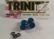 TEAM TRINITY RC TRAXXAS TMAXX BLUE ANODIZED ALUMINUM WHEEL LUGS