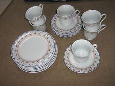 6 tazze, piattini & teaplates-appaiono non utilizzati-CROWN Ming Da Tienshan-disegno floreale