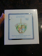 Precious Moments Our First Christmas Together 2011 porcelain bisque ornament