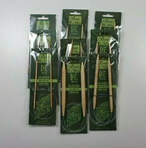Clover Takumi Bamboo Circular Knitting Needles 80 cm long - various sizes