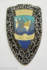 g847 Romania 1960's CARPATI communist brass bicycle bike badge logo emblem RRR