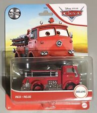 New for 2021 Disney Pixar Cars Red Fire Engine Deluxe Metal Series