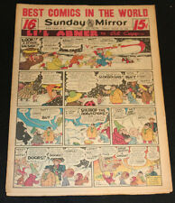 1952 Sunday Mirror Weekly Comic Section March 23rd (FN+) Superman Action