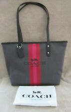 COACH 69646 City Horse and Carriage Jacquard Leather Zip Tote Handbag Purse NWT
