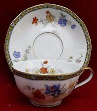 "HAVILAND Limoges china GANGA pattern Cup & Saucer  4"" diameter cup"