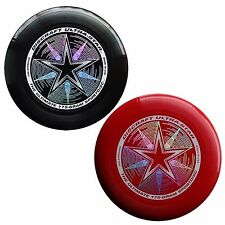NEW Discraft ULTRA-STAR 175g Ultimate Frisbee Disc (2 Pack) BLACK/DARK RED