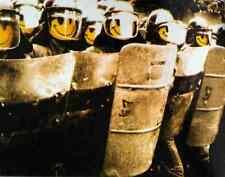 Banksy Riot Police Smiley A4 Sign Aluminium Metal