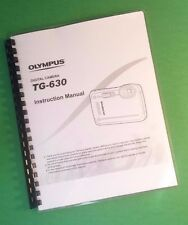 Laser Printed Olympus Tg-630 Tg630 Camera 89 Page Owners Manual Guide