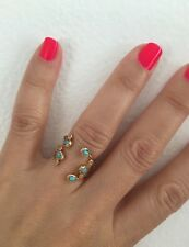 Tai Gold CZ And Turquoise Ring. New And So Cool!