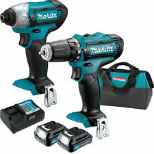 Makita CT226 12V Max CXT 2 Speed Li-Ion Cordless Impact Drill Driver Combo New