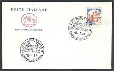 1983 ITALIA FDC CAVALLINO CASTELLO CALDORESCO 1400 LIRE NO TIMBRO ARRIVO CV1983