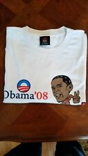 RARE Collectible Authentic 2008 Barack Obama YES WE CAN CHANGE Campaign T-Shirt