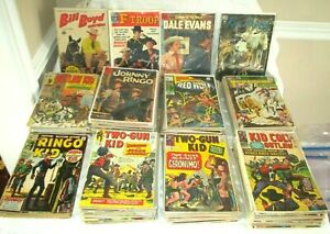 135+GOLDEN-SILVER AGE WESTERN COMICS-MARVEL- DC-DELL- 1950'S-70'S-LOT COLLECTION