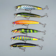 6pcs Lot Color Minnow Fishing Bait 9.5cm/8.5g fishing lures 6# Hook Tackle Bass