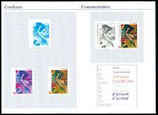 FRANCE 2003 KUNST PHASENDRUCKE KANDINSKY ART PROOFS IMPERF RARE !! z2198