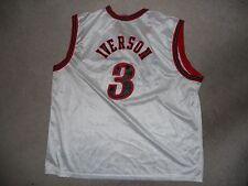 New ListingPHILADELPHIA 76ers NBA BASKETBALL JERSEY  3 ALLEN IVERSON XL  WHITE CHAMPION HOME 982a82fd1