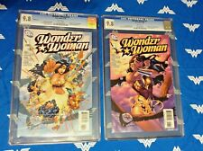 DC WONDER WOMAN #1 2006 CGC 9.8  LOT Kubert Variant Cover & Dodson Cover NM/MT!!