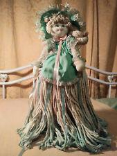 "Vintage Bambola Summer Belle Mop Doll- Fashion Hair/Bonnet Amazing details 25"""