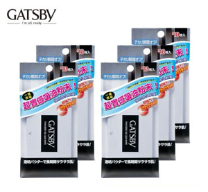 ( Pack of 5 ) Gatsby Powdered Oil Clear Paper ~ 70 Sheets