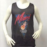 Miami Heat Men's Jersey Hardwood Classics NBA Black 2-Layer Mesh-Basketball SMXL