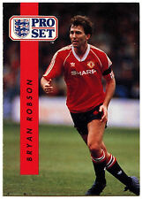 Bryan Robson Manchester United #144 Pro Set Football 1990-1 Trade Card (C363)