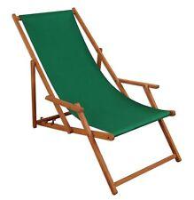 Chaise Longue Vert Bois Lit Soleil Transat pour Jardin Relaxliege Hêtre 10-304