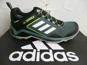 Adidas Terrex Trainers Sneakers Lace Up Waterproof Black/Green New