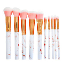 10x pro marble makeup brushes cosmetic powder eyeshadow face brush tool pink PL