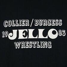 New listing Vtg 80s Jello Wrestling T-Shirt M Black Collier Burgess Single Stitch 50/50 Usa