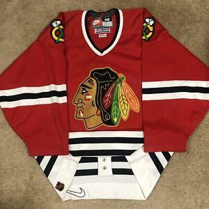 Nike Authentic Chicago Blackhawks NHL Hockey Jersey Vintage Red Away 48