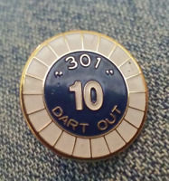 "301 ""Number 10"" Dart Out lapel pin"